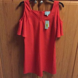 Cold Shoulder red dress by Skies are Blue.  XS NWT